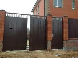 Монтаж кованный металлических ворот и калиток