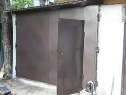 Ворота гаражные металлические распашные:изготовление, монтаж