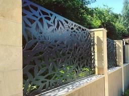 Металлические ворота с художественной резкой