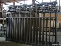 Изготовление металлических заборов.