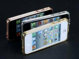 Металлический бампер со стразами камнями iPhone 4 4s 5 5s