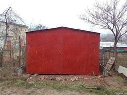 Металлический гараж листовой