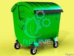 Металлический мусорный контейнер для ТБО, мусора бак 1100л