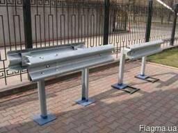 Металлический ограждение дорожное барьерного типа 11ДО2 оц.