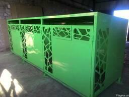 Металлический павильон для мусорных контейнеров