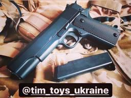 Металлический пистолет Colt 1:1 Hi-Power страйкбол