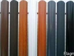 Металлический штакет, забор из штакетника разные цвета