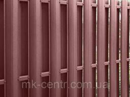 Металлический штакетник евроштакетник 130мм 0,45мм Украина матовый двухсторонний красный