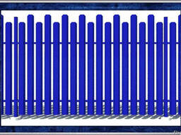 Металлический штакетный забор, евро-штакетник из металла