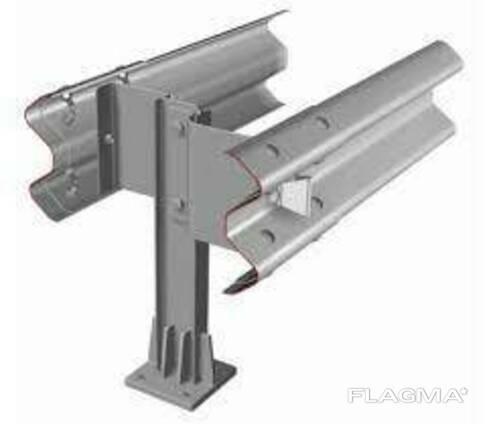 Металлическое мостовое ограждение барьерного типа 11МД
