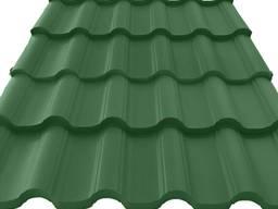Металлочерепица Атика зелёная (Германия) 0, 45мм