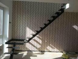 Металлокаркас лестницы на центральной несущей