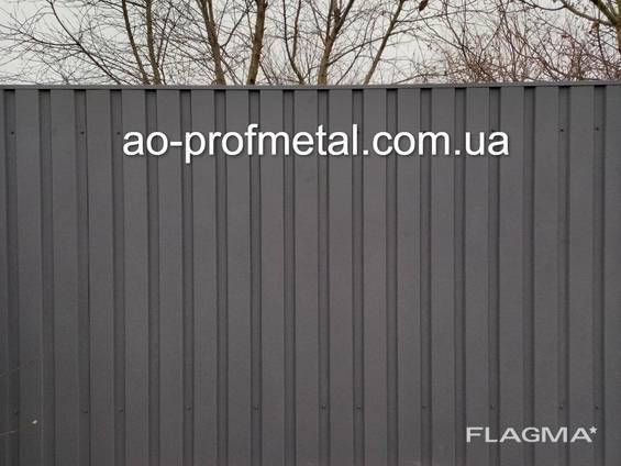 Металлопрофиль серый графит РАЛ 7024 КИЕВ .