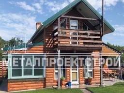 Металлосайдинг Блок Хаус, металическая фасадная панель