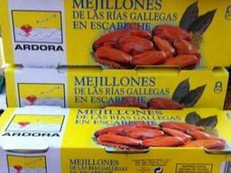 Мидии, упаковка 3 х 80г. Испания.