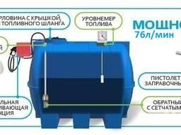 Мини АЗС 3, 5, 7, 10 м³ Bosch, емкость пластиковая, цистерна