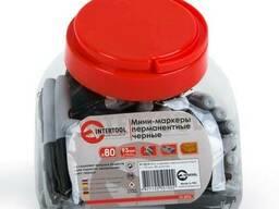 Мини-маркеры перманентные черные, L= 93мм, 80 шт/упак. .. .