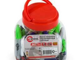 Мини-маркеры перманентные цветные, L= 93 мм, 80 шт/упак. .. .