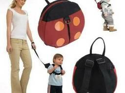 Мини-рюкзак детский с поводком Божья Коровка