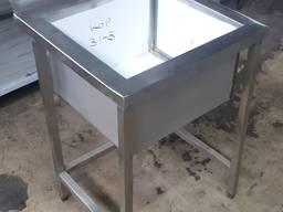 Мийка промислова 1-секційна ВМ-1 600х600х850 мм глибина 300
