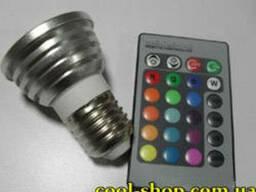 Многофункциональная 16-цветная лампа с пультом ДУ, Цветная