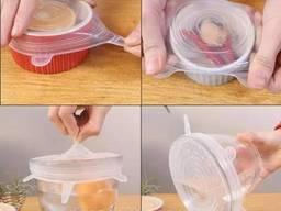 Многоразовые силиконовые крышки для хранения продуктов. ..