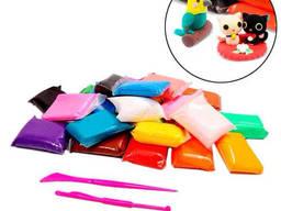 Моделин 36 цветов, воздушный пластилин, масса тесто для лепки, детское творчество
