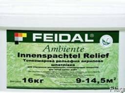 Inenspachtel Relief Feidal 16 кг рельефная шпатлевка