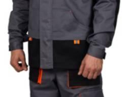 Модельный рабочий мужской костюм с отделкой ( с брюками)
