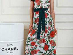 Модное принтовое платье в пол 44-50 , доставка по Украине