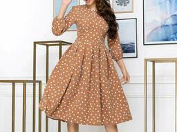 Модное женское платье миди (42-50 р), доставка по Украине