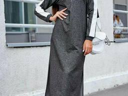 Модное женское спортивное платье миди 42-52 , доставка по. ..