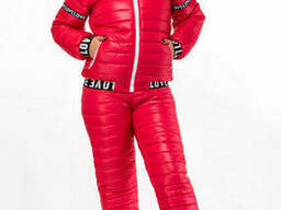 Модный зимний женский костюм на синтепоне(42-54). ..