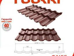 Модульная металлочерепица Finnera коричневая ® Ruukki. ..
