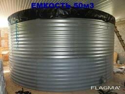 Модульная стальная емкости для воды 50 м3 цена купить бу