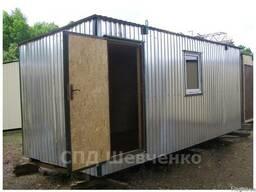 Модульный домик размером 6х2,5 м. На металлическом каркасе.