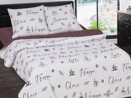 Мокко - постельное белье с модным кофейным дизайном поплин, 100% хлопок