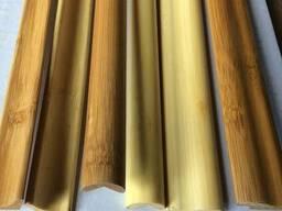 Молдинги бамбуковые для отделки, темные и светлые,1.85 м