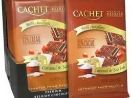 Молочный шоколад Cachet Бельгия с карамелью и морской солью