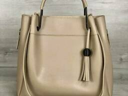 Молодежная сумка Welassie Рамона бежевого цвета