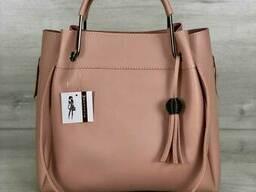 Молодежная сумка Welassie Рамона персикового цвета