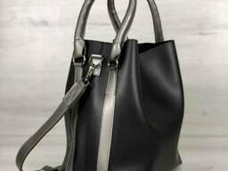 Молодежная женская сумка Леора черного цвета - фото 2