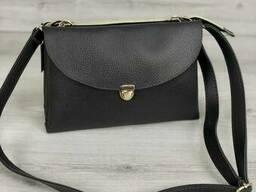 Молодежная женская сумка Виола серого цвета