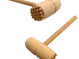 Молоток для отбивания мяса круглый (деревянный) 28 см