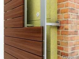 Монтаж деревянных фасадов.