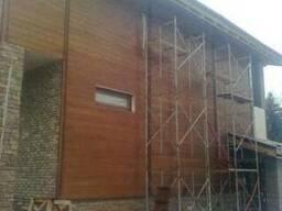 Монтаж деревянных фасадов.Блок хаус.Вагонка.