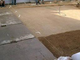 Укладка дорожных плит, бетонных плит