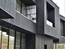 Монтаж фасадов термодоска планкен лиственница