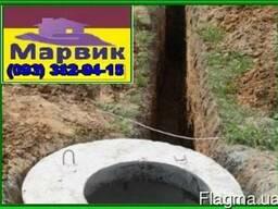 Монтаж канализации из Ж, Б колец