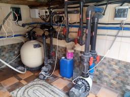 Монтаж оборудования для бассейна